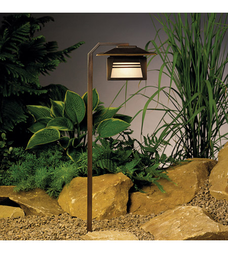 Kichler Lighting Zen Garden 1 Light Landscape 12V Path & Spread in Olde Bronze 15391OZ photo
