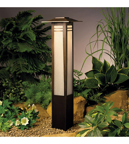 Kichler Lighting Bollard 1-Lt 12V Landscape 12V Path & Spread in Olde Bronze 15392OZ