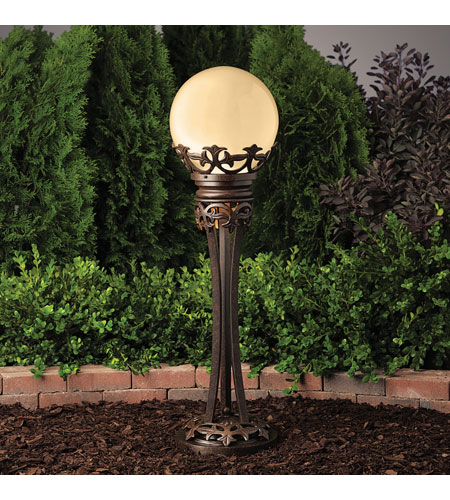 Kichler Lighting Vintage Park Specialty 1 Lt 12v Gazing Ball In Textured Tannery Bronze 15400tzt