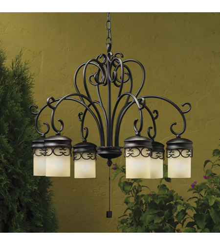 Kichler Lighting Almeria 6 Light Landscape 12V Specialty in Textured Black 15408BKT photo