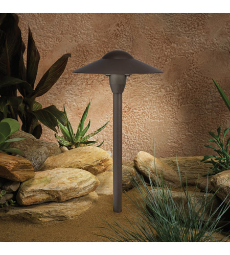 Kichler Lighting Outdoor Low Volt 1 Light Landscape 12V Path & Spread in Textured Architectural Bronze 15410AZT