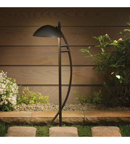 Kichler Lighting Outdoor Low Volt 1 Light Landscape 12V Path & Spread in Textured Architectural Bronze 15411AZT