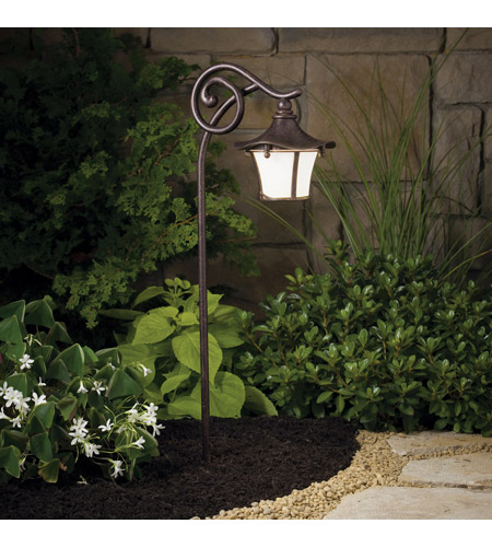 Kichler 15420AGZ Cotswold 12V 16.25 watt Aged Bronze Landscape 12V Path & Spread photo