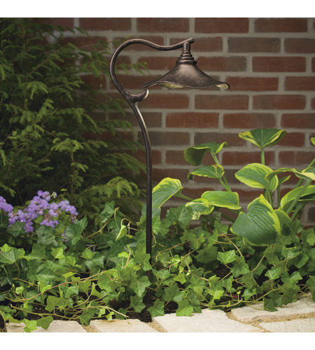 Kichler Lighting Cotswold 1 Light Landscape 12V Path & Spread in Aged Bronze 15422AGZ photo