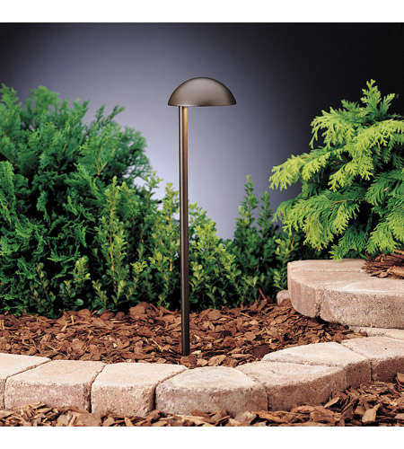 Kichler Lighting Eclipse 1 Light Landscape 12V Path & Spread in Textured Architectural Bronze 15423AZT photo