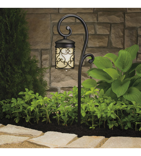 Kichler 15426BKT Almeria 12V 11.6 watt Textured Black Landscape 12V Path & Spread photo