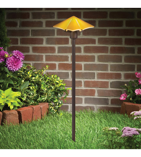 Kichler Lighting Posies 1 Light Landscape 12V Path & Spread in Amber 15435AMB