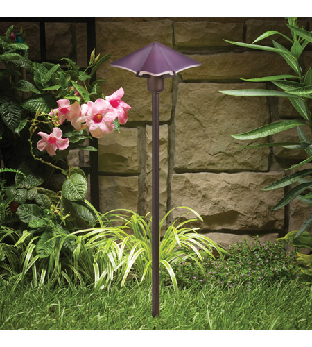 Kichler Lighting Posies 1 Light Landscape 12V Path & Spread in Purple 15435PP