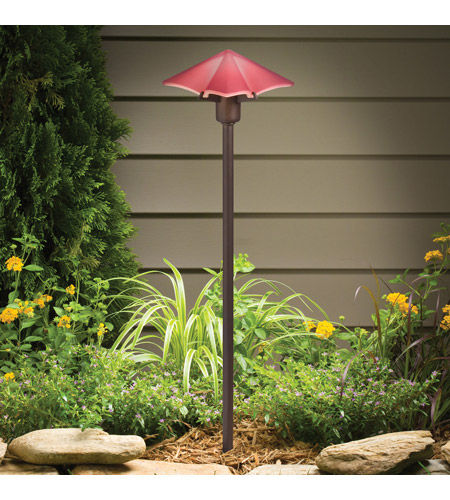 Kichler Lighting Posies 1 Light Landscape 12V Path & Spread in Red 15435RD
