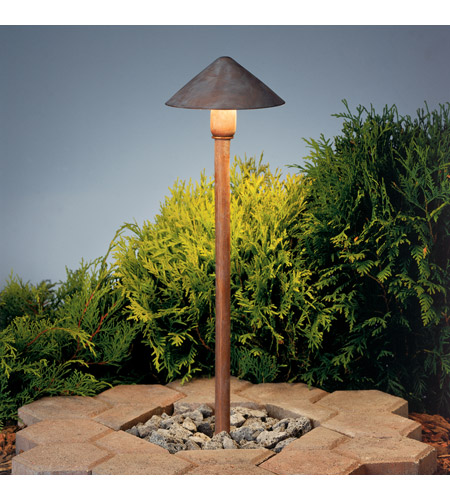 Kichler Lighting Outdoor Low Volt 1 Light Landscape 12V Path & Spread in Olde Brick 15439OB