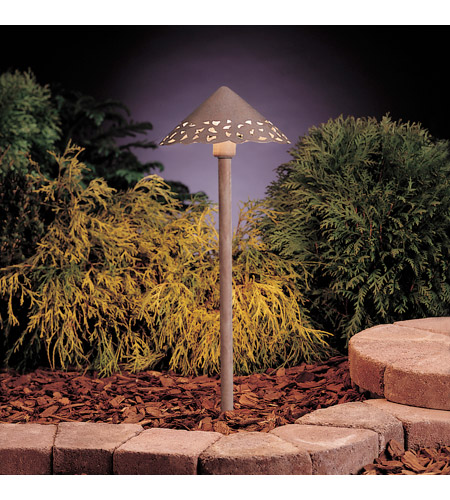 Kichler 15443OB Lace 12V 24.4 watt Olde Brick Landscape 12V Path & Spread in Single photo