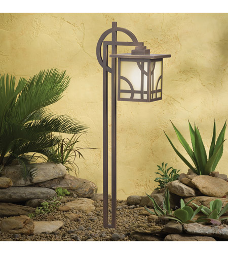 Kichler Lighting Larkin Estate 1 Light Landscape 12V Path & Spread in Olde Bronze 15444OZ photo