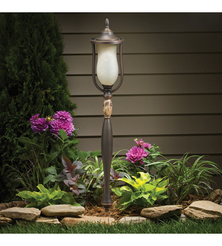 Kichler Lighting Aries Manor 1 Light Landscape 12V Path & Spread in Olde Bronze 15446OZ photo