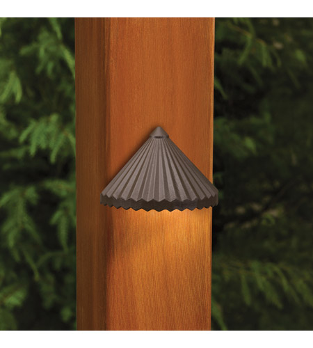 Kichler Lighting Outdoor Low Volt 1 Light Landscape 12V Deck in Textured Architectural Bronze 15468AZT