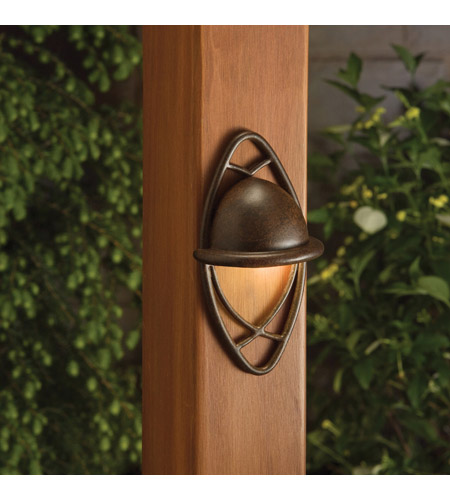 Kichler Lighting Cathedral 1 Light Landscape 12V Deck in Textured Tannery Bronze 15469TZT