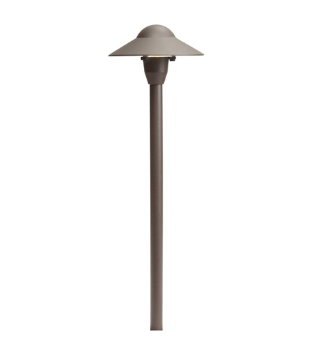 Kichler Lighting 6in Dome Path Light Landscape 12V Path & Spread in Textured Architectural Bronze 15470AZT