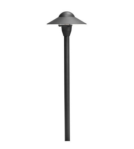 Kichler Lighting 6in Dome Path Light Landscape 12V Path & Spread in Textured Black 15470BKT
