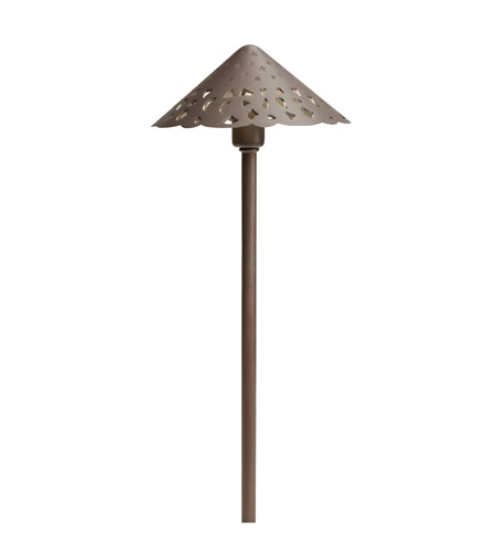 Kichler Lighting Cast Brass Hammered Roof Landscape 12V Path & Spread in Bronzed Brass 15471BBR