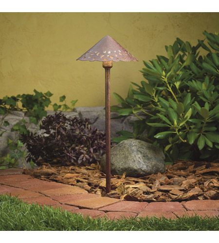 Kichler Lighting Cast Aluminum Hammered Roof Landscape 12V Path & Spread in Textured Tannery Bronze 15471TZT