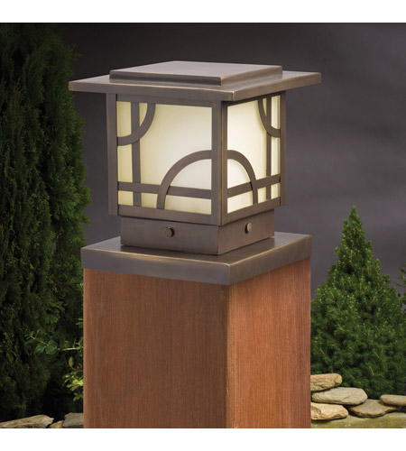 Kichler 15474OZ Larkin Estate 12V 16.3 watt Olde Bronze Landscape 12V Deck, 6.25 inch photo