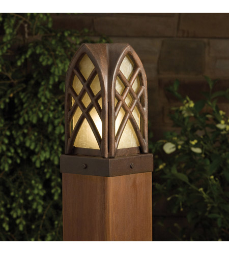 Kichler Lighting Cathedral 1 Light Landscape 12V Deck in Textured Tannery Bronze 15479TZT photo