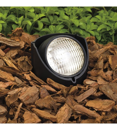 Kichler Lighting Outdoor Low Volt 1 Light Landscape 12V In-Ground in Black Material 15488BK