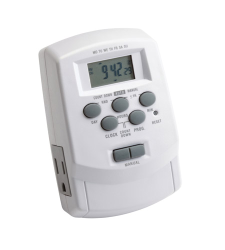 Kichler Lighting Digital Timer with Daylight Sa Landscape 12V Accessory in White 15556WH photo