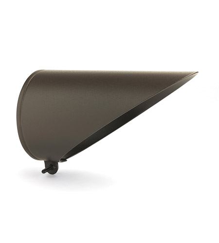 Kichler Lighting Accessory Cowl PAR20 Long Landscape 120V Accessory in Textured Architectural Bronze 15628AZT photo