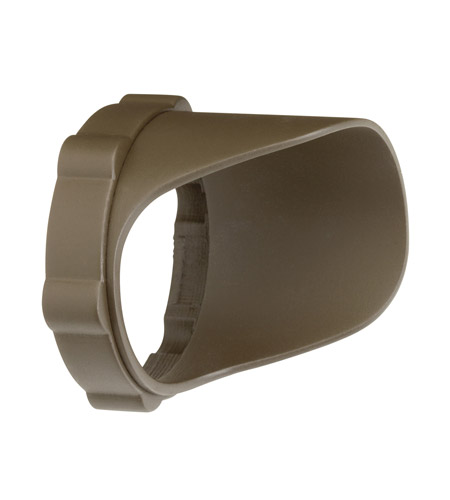 Kichler Lighting Snap-on Cowl - Short 4.5W/8.5W Landscape 12V LED Accessory in Textured Arch Bronze Polycarb 15701AZTP