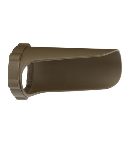 Kichler Lighting Snap-on Cowl - Long 4.5W/8.5W Landscape 12V LED Accessory in Textured Arch Bronze Polycarb 15703AZTP