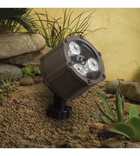 Kichler Lighting Accent LED 4.5W 60 deg wide Landscape 12V LED Accent in Textured Architectural Bronze 15733AZT photo