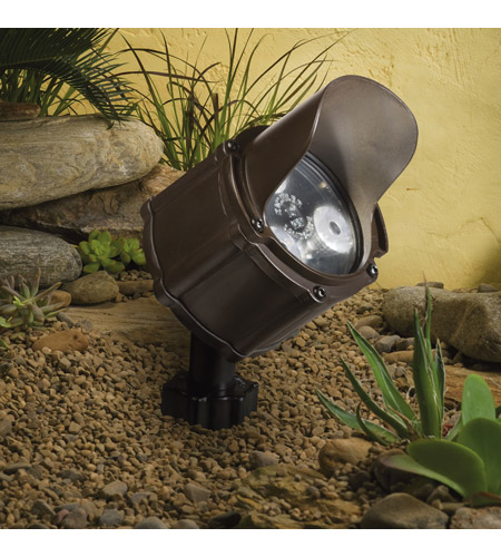 Kichler Lighting Accent LED 4.5W 60 deg wide Landscape 12V LED Accent in Bronzed Brass 15733BBR