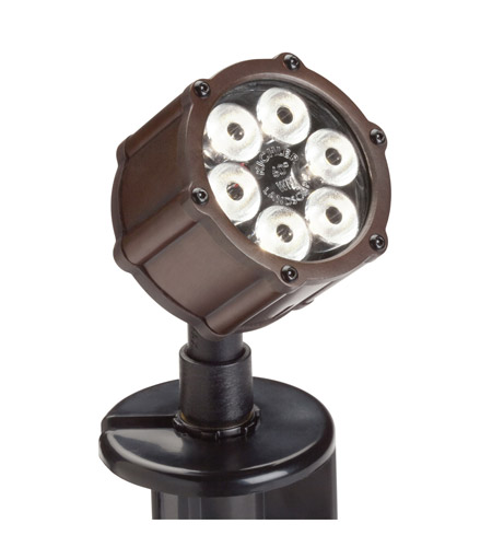 Kichler Lighting Accent LED 8.5W 60 deg wide Landscape 12V LED Accent in Bronzed Brass 15743BBR photo