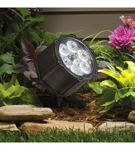 Kichler Lighting Accent LED 8.5W 60 deg wide Landscape 12V LED Accent in Textured Black 15743BKT photo