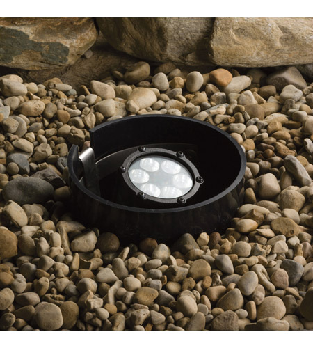 Kichler Lighting In Ground 6 (Led) 60 Degree Wi Landscape 12V LED Inground in Textured Black 15748BKT photo