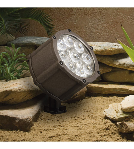 Kichler 15752AZT Landscape 12V 12V 12.4 watt Textured Architectural Bronze Landscape Accent Light photo