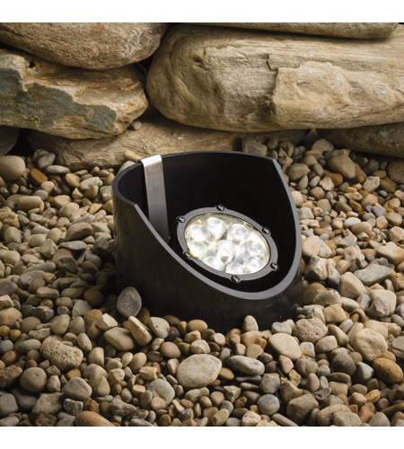 Kichler 15758BKT Landscape 12V 12V 10 watt Textured Black Landscape In-Ground Light photo