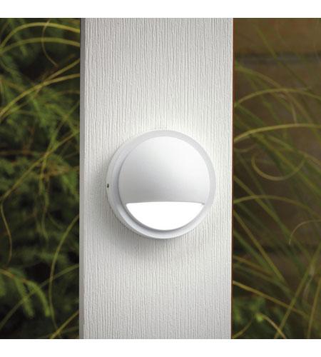 Kichler Lighting Half Moon LED Deck Light Landscape 12V LED Deck in White 15764WHT