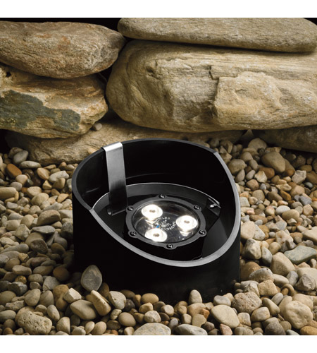 Kichler 15768BKT Landscape 12V 12V 4.5 watt Textured Black Landscape In-Ground Light photo