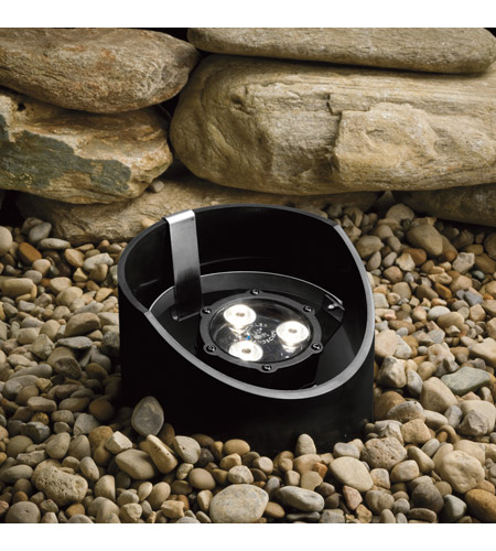 Kichler Lighting 4.5W 60 Degree LED Well Light Landscape 12V LED Inground in Textured Black 15769BKT