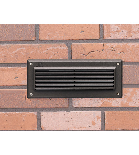 Kichler Lighting Deck LED 2W Brick Light Landscape Landscape 12V LED Deck in Textured Architectural Bronze 15773AZT