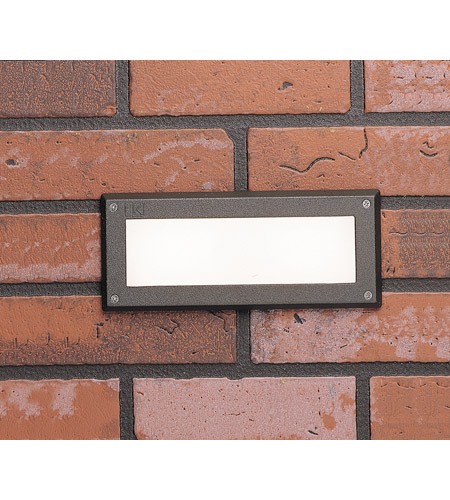 Kichler Lighting Deck LED 2W Brick Light Landscape Landscape 12V LED Deck in Textured Architectural Bronze 15774AZT photo