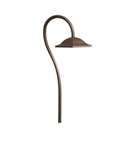 Kichler Lighting LED Shepherds Crook Path Landscape 12V LED Path/Spread in Textured Architectural Bronze 15807AZT