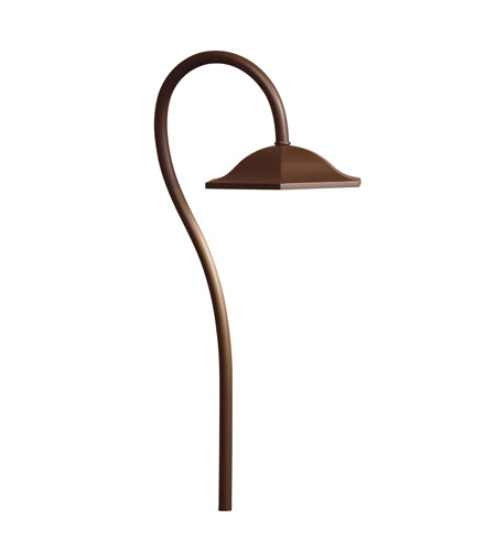 Kichler Lighting LED Shepherds Crook Path Landscape 12V LED Path/Spread in Bronzed Brass 15807BBR