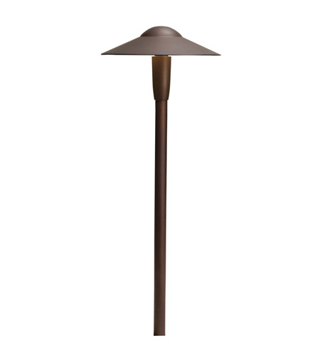 Kichler Lighting LED Dome Path Light Landscape 12V LED Path/Spread in Textured Architectural Bronze 15810AZT photo