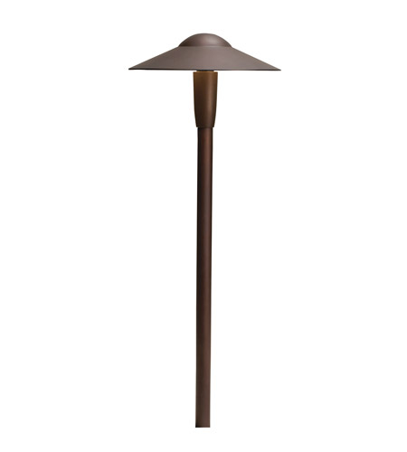 Kichler 15810AZT30R Signature 12V 4.3 watt Textured Architectural Bronze Pathway Light in 3000K photo