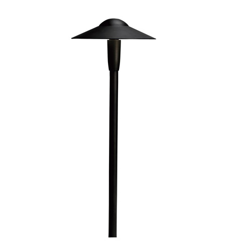Kichler Lighting LED Dome Path Light Landscape 12V LED Path/Spread in Textured Black 15810BKT