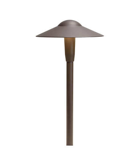 Kichler Lighting LED Dome Path Light - Short Landscape 12V LED Path/Spread in Textured Architectural Bronze 15811AZT