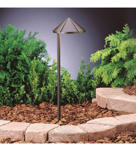 Kichler 15815AZT Kichler Lighting Outdoor LED 3 Light Landscape 12V LED  Path/Spread In Textured Architectural Bronze 15815AZT
