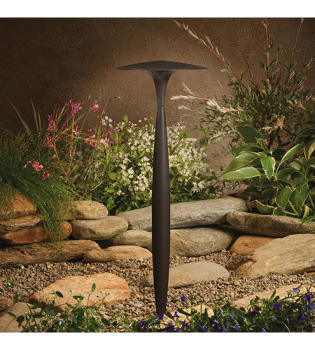 Kichler Lighting LED path light Landscape 12V LED Path/Spread in Textured Architectural Bronze 15833AZT photo